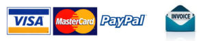we accept credit card, paypal, invoice